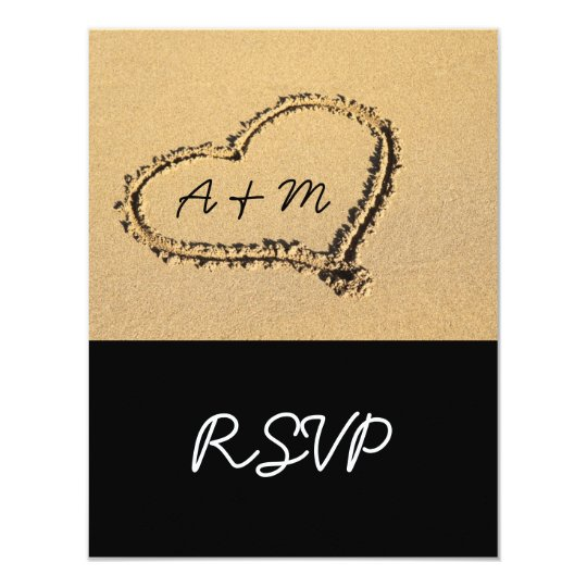 Modern Beach Destination RSVP Cards