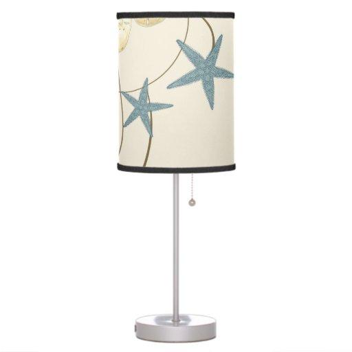 Modern Beach House Decor Starfish Sand Dollar Lamps