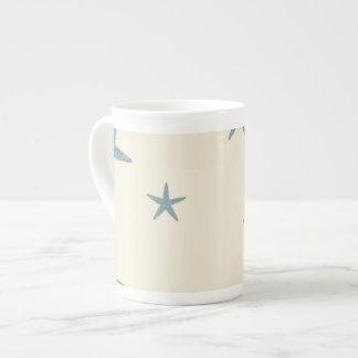 Modern Beach House Decor Starfish Sand Dollar Tea Cup