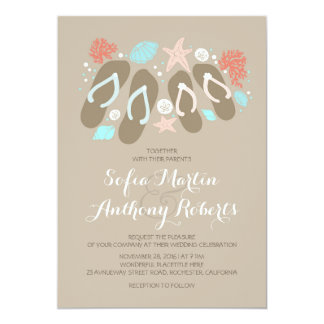 Flip Flop Wedding Invitations Announcements Zazzle