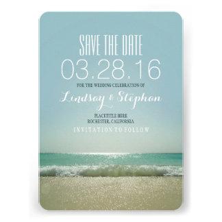 Modern beach wedding save the date cards