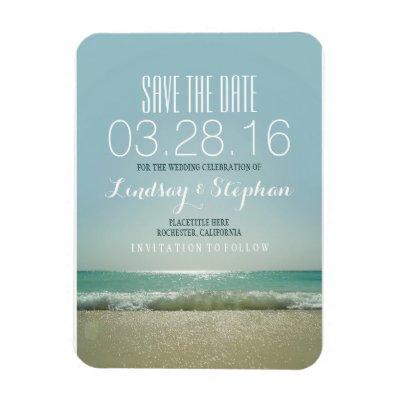 beach wedding save the date magnets zazzle com