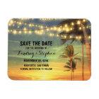 Modern Beach Wedding Save The Date Magnet