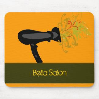 Modern Beauty Orange Salon Mousepad