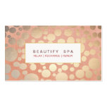 Modern Beauty Salon & Spa Faux Gold Pink Business Card Templates