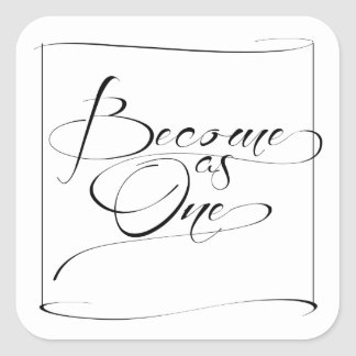 Modern Become as One Christian Wedding Stickers