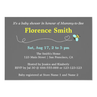 Modern Bee Baby Shower for Mummy to be Announcement