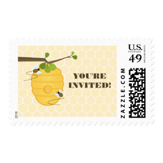 Modern Bee Birthday Party Postage