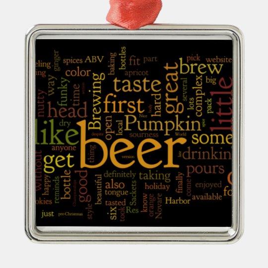 modern beer ornament