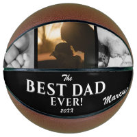 Modern Best Dad Ever Father`s Day Keepsake 3 Photo Basketball