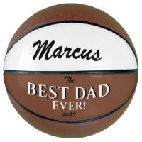 Modern Best Dad Ever Father`s Day  Keepsake Name Basketball