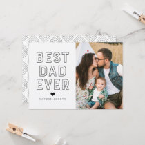 Modern Best Dad Ever | Father's Day Photo Card
