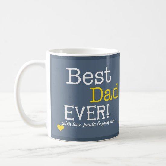 Modern Best Dad Ever Personalized Photo Coffee Mug