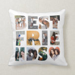 "Modern Best Friends 12 Photo Collage BFF Besties Throw Pillow<br><div class=""desc"">Modern Best Friends 12 Photo Collage BFF Besties Throw Pillow</div>"