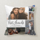 "Modern Best Friends Collage BFF Besties Chic Quote Throw Pillow<br><div class=""desc"">Modern Best Friends Collage BFF Besties Chic Quote Throw Pillow Best friends are the sisters that life gives us! A tribute to the bond only best friends understand, this print features 5 of your favorite photos of you and your BFF. You can easily customize the photo, quote, names and color...</div>"