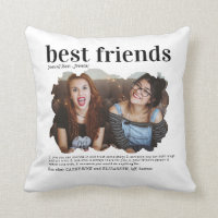 Modern Best Friends Photo Dictionary Definition Throw Pillow