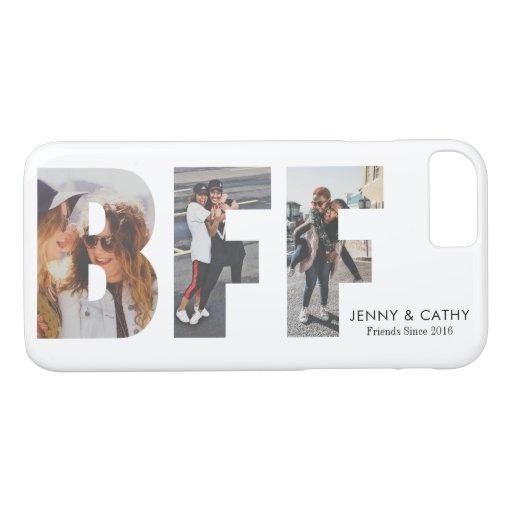 Modern BFF Photo Collage Best Friends Friendship iPhone 8/7 Case