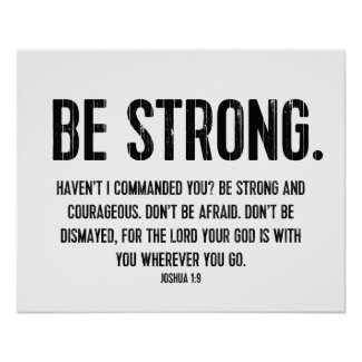Modern Bible Verse, Christian, Be Strong