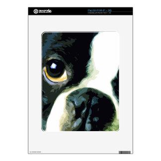 modern big Boston Terrier iPad Skin
