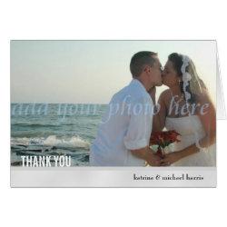 Modern Big Photo Template Wedding Thank You Card