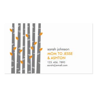 Modern Birch in Tangerine Mommy Calling Card