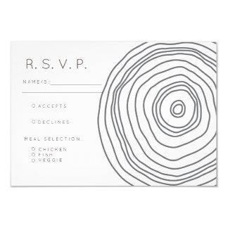 Modern Birch Slab   RSVP Card