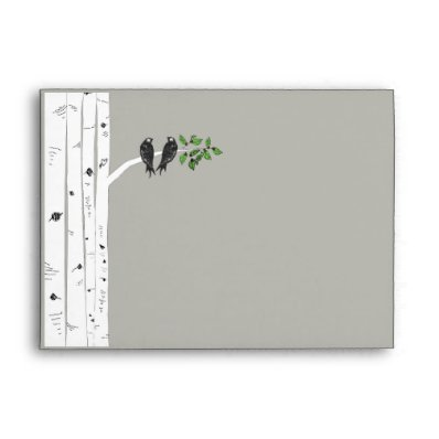 Modern Birch Tree Wedding 5x7 Envelope