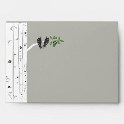 Modern Birch Tree Wedding 5x7 Envelopese Envelope