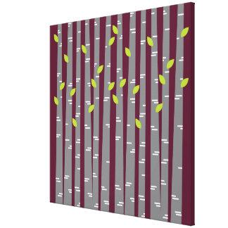 Modern Birch Wrapped Canvas Wall Art Canvas Prints