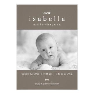 MODERN Birth Announcements Invites