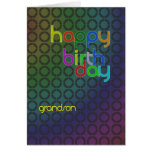 Modern Birthday card for grandson