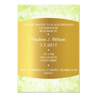 Modern Birthday Invitation Golden Mint Green Vip