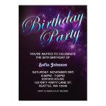 modern birthday invitation with cool design