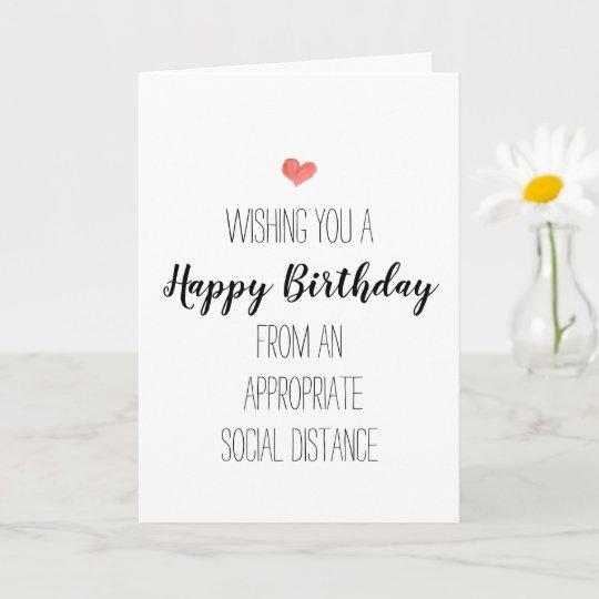 modern birthday minimalist social distancing card  zazzle