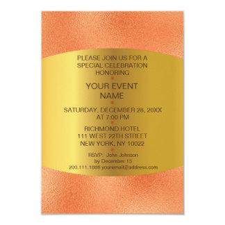 Modern Birthday Wedding Orange Golden Vip Card