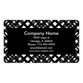 Modern Black Abstract angles rules and diamond Business Card