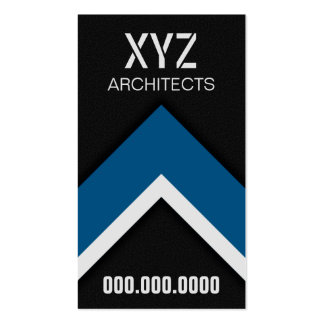 Modern Black and Blue Architect Business Cards Business Card
