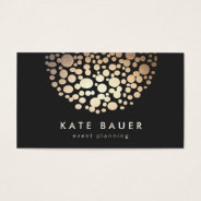 Modern Black And Gold Event Planner Business Card at Zazzle