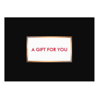 Modern Black and Gold  Holiday Gift Card