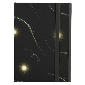 Modern Black And Gold Shooting Stars iPad Air Case