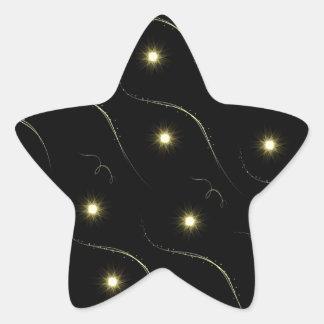 Modern Black And Gold Shooting Stars Sticker
