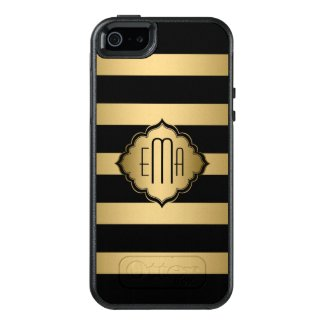 Modern Black And Gold Stripes