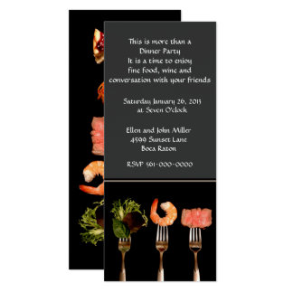 Modern Black and Gray Dinner Invitation