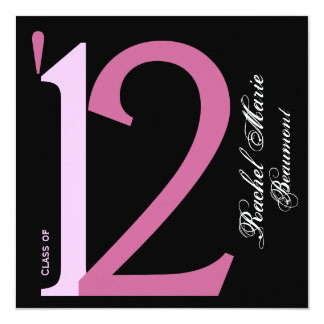 Modern Black and Pink Photo Announcement