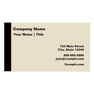 Modern Black and Tan Business Cards