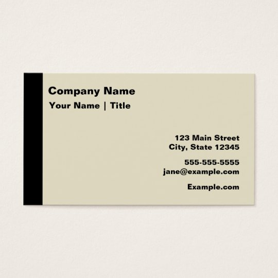 Modern Black and Tan Business Card