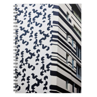 Modern black and white building in Hong Kong 2 Notebook