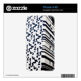 Modern black and white building in Hong Kong 2 Decal For The iPhone 4S