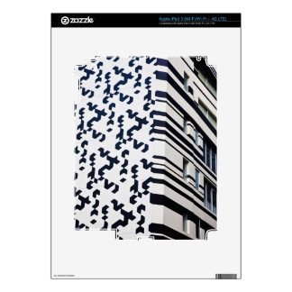 Modern black and white building in Hong Kong 2 iPad 3 Decals