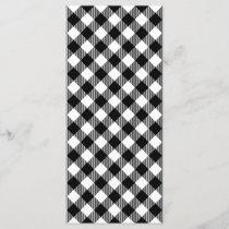 Modern Black and White Check Gingham Pattern